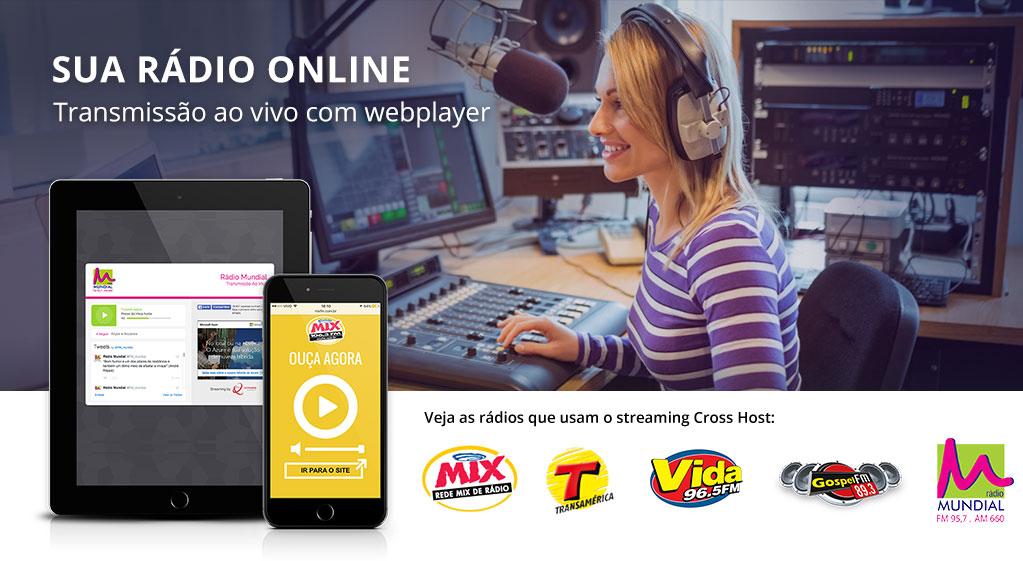 Streaming para Rádio - Streaming de Áudio - Streaming for Radio