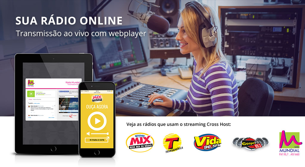 Streaming para Rádio - Streaming de Áudio - Streaming for Radio