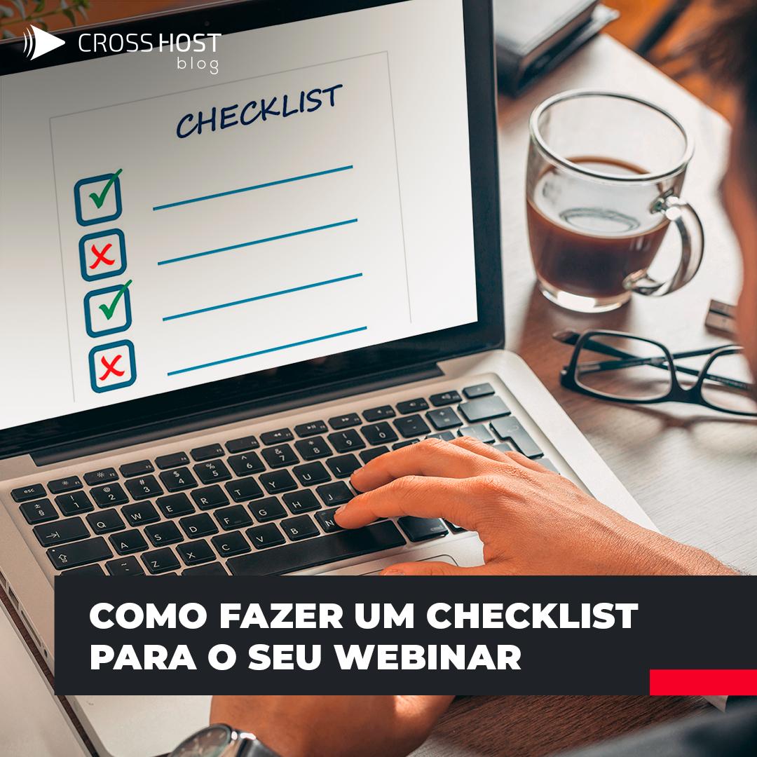 Como fazer um Checklist para o seu Webinar