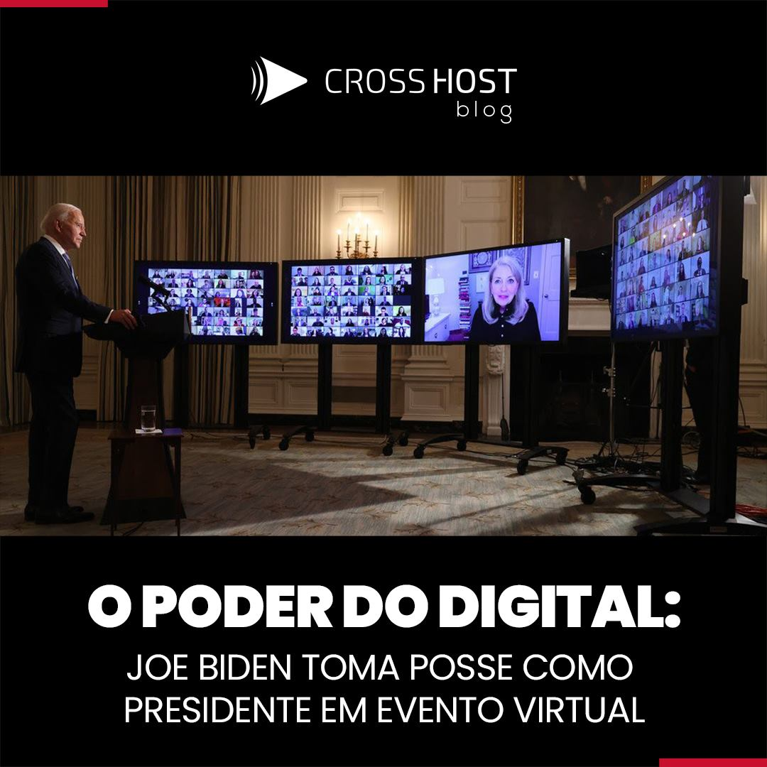 O poder do digital: Joe Biden toma posse como presidente em evento virtual